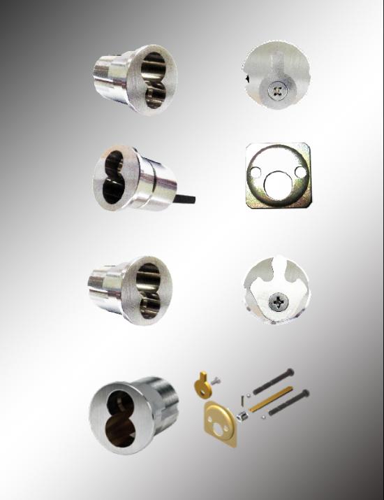 Large Format 6 Pin IC Mortise & RIM Cylinder Housing