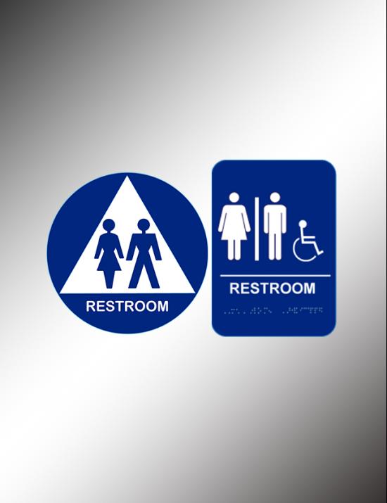 Restrooms & Exit Signs