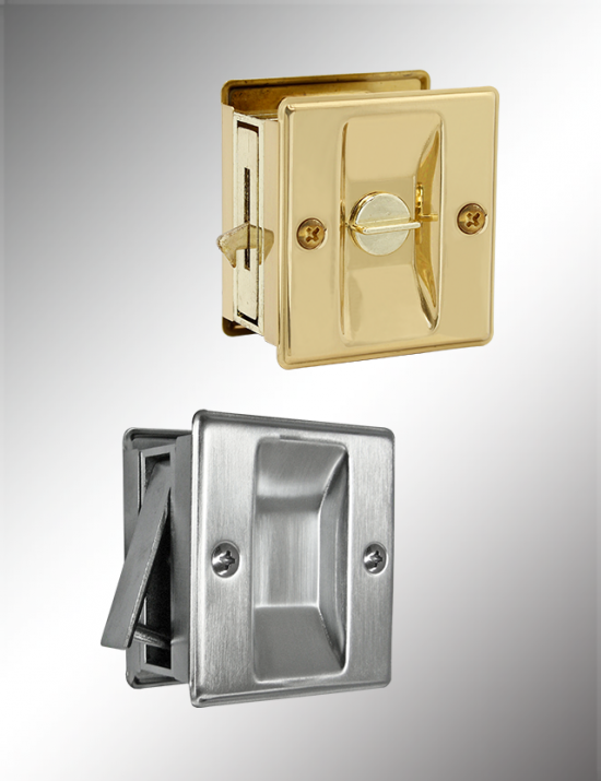 Privacy/Passage Sliding Door Lock, SDL16 & SDL17