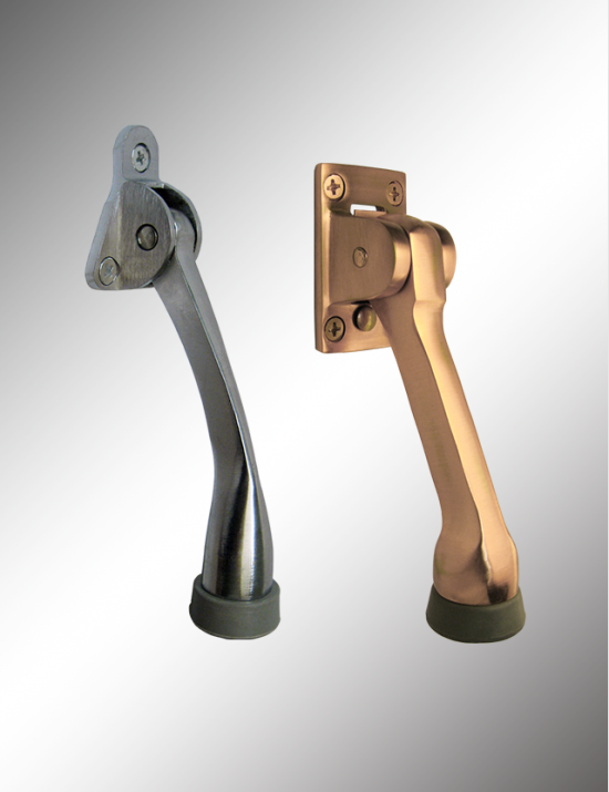 Solid Brass Kick Down Door Holder, SBDH5 & SBDH41300