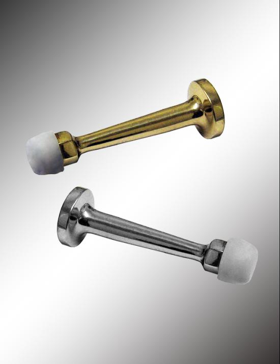 Solid Brass Rigid Door Stop With Molded Screw