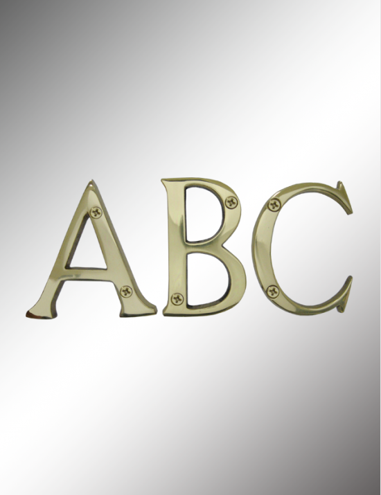 Solid Brass Letters, SBL